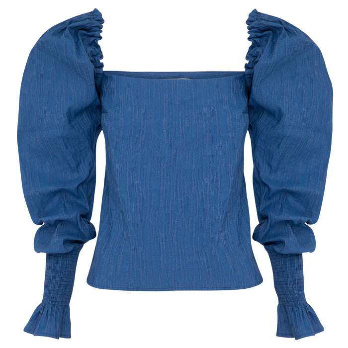 MARTA Top (CORNFLOWER BLUE)