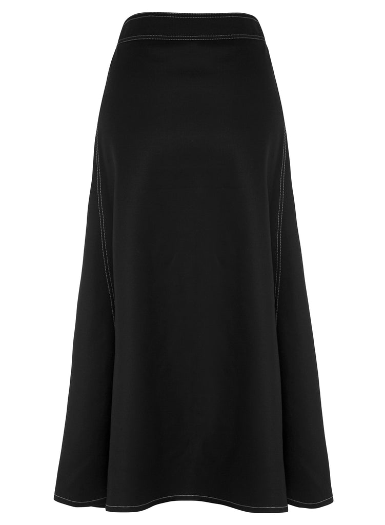 MARIANNE Skirt (BLACK W/ TOPSTITCH)