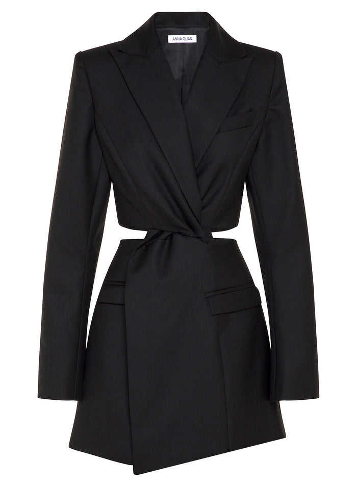 CHIARA BLAZER DRESS (BLACK) *PRE-ORDER*