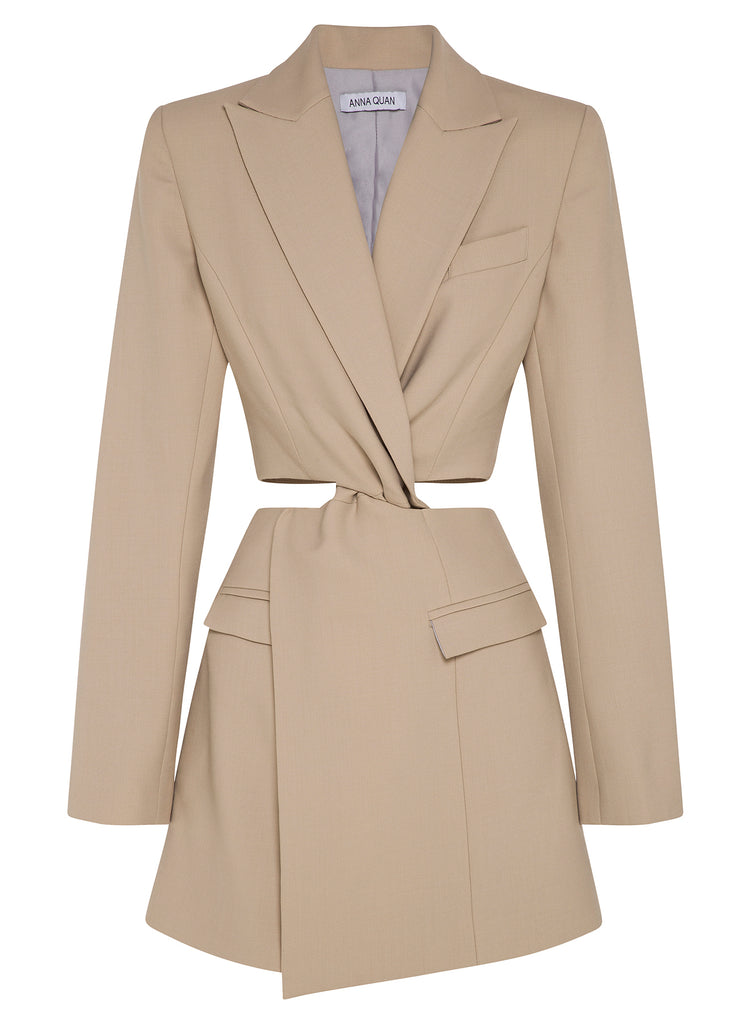 CHIARA Blazer Dress (NEW SAND)