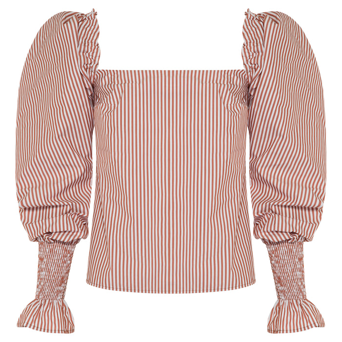 MARTA Top (brown stripe)