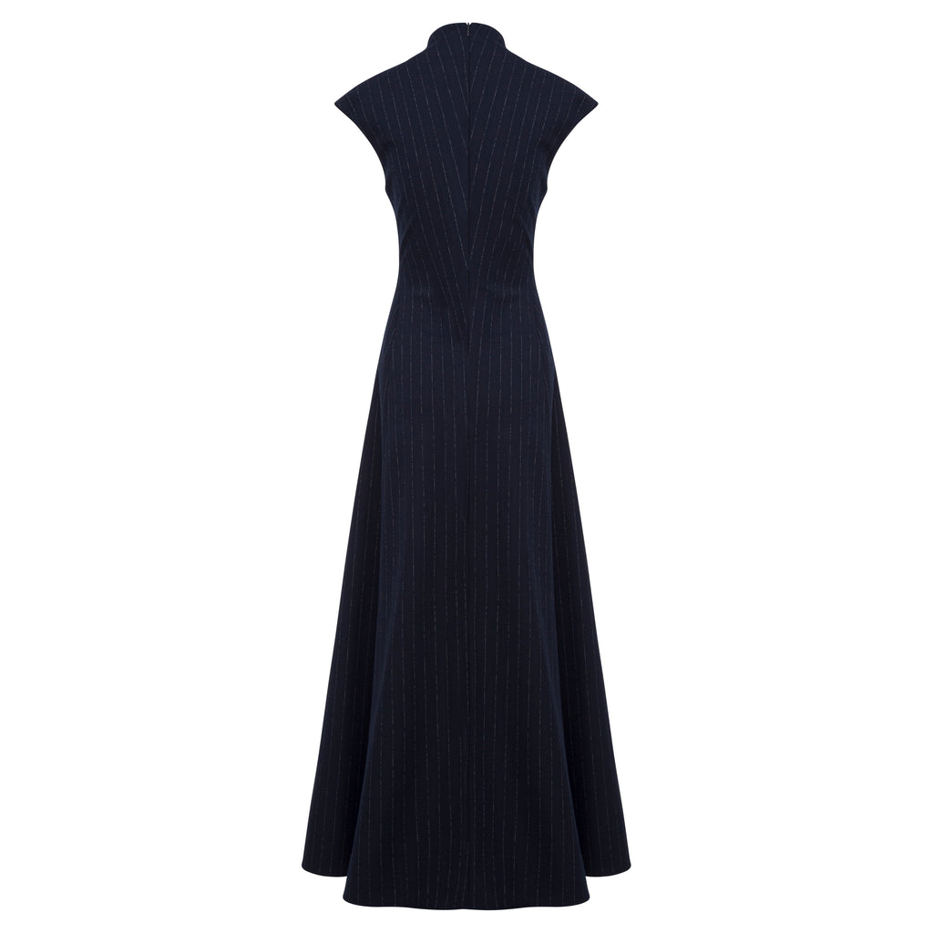 Rhoda Dress (chalk stripe)