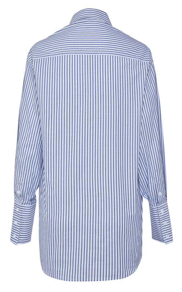 LESLEY shirt (NAVY STRIPE)