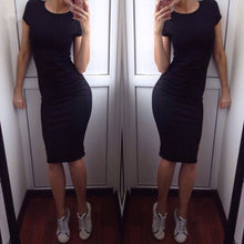 Short Sleeve Slim Dress