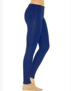 Blue Elastic Leggings
