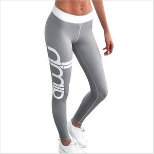 2017 Women Sexy Skinny Push Up Sporting Leggings  Gothic Print High Waist Elastic Pants Workout Fitness Legging Trousers