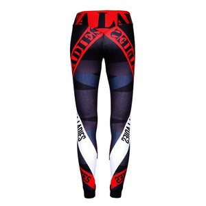 Black and Red Fitness Leggings