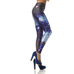 Sexy Blue Galaxy Leggings