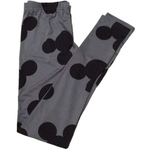 Dark Gray Mouse Elastic Leggings