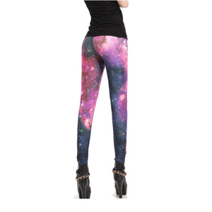 Sexy Pink Galaxy Leggings