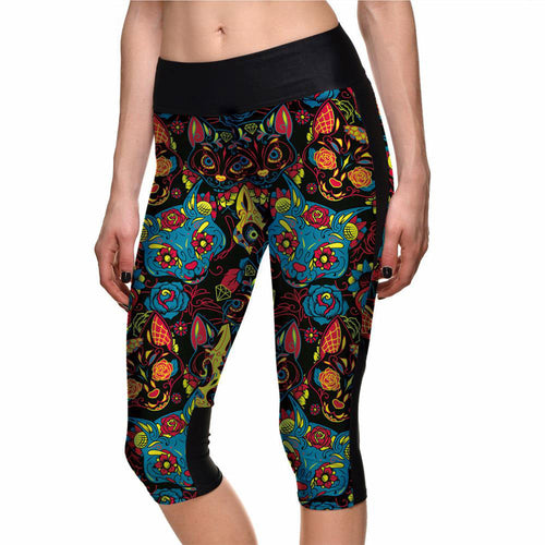 Colorful Cats Capri Leggings