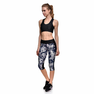 White Cats Capri Leggings