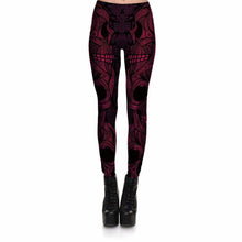 Red Mask Skeleton Leggings