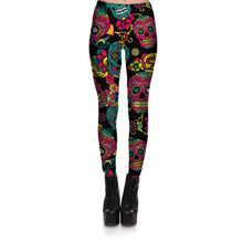 Multi Color Skull Leggings
