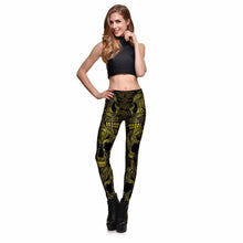 Yellow Mask Skeleton Leggings