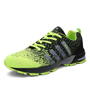 Green Athletic Running Shoes