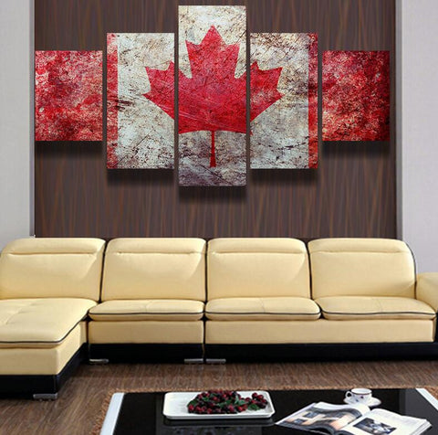Canada Flag Wall Canvas