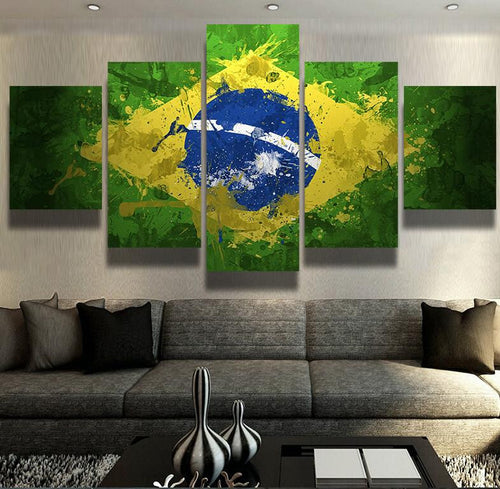 Brazil Flag Wall Canvas