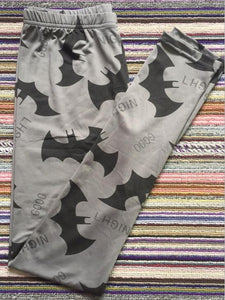 Dark Gray Bat Elastic Leggings