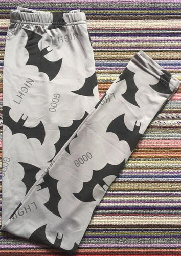 Gray Bat Elastic Leggings