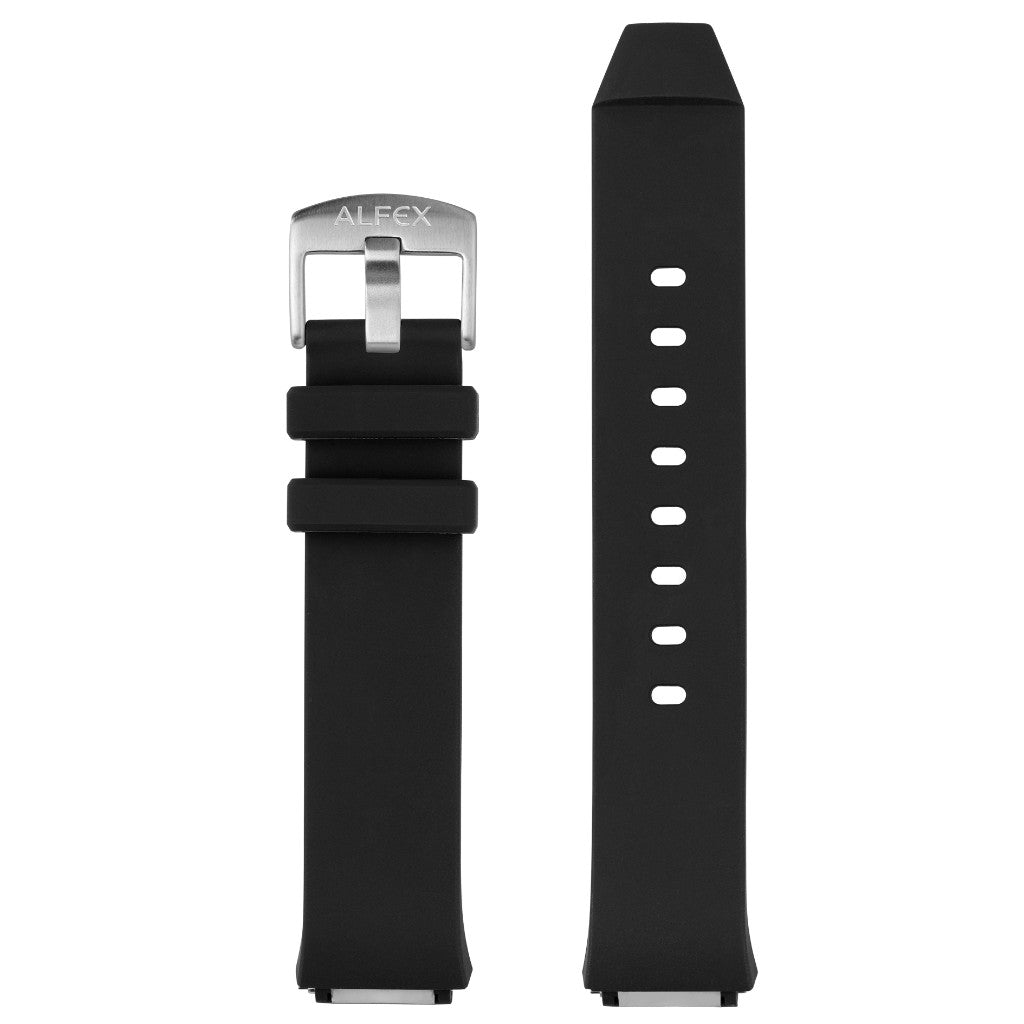 Silicone strap ref. 5781 black - chrome collection