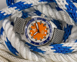 Custom Made to Order Orange Core Diver- Full Kit - Ocean Crawler Watch Co.