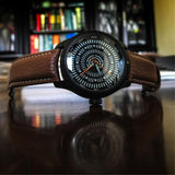 Dark Brown Leather Band With Signed Black PVD Stainless Steel Buckle - 22mm - Curved Lugs - Ocean Crawler Watch Co.