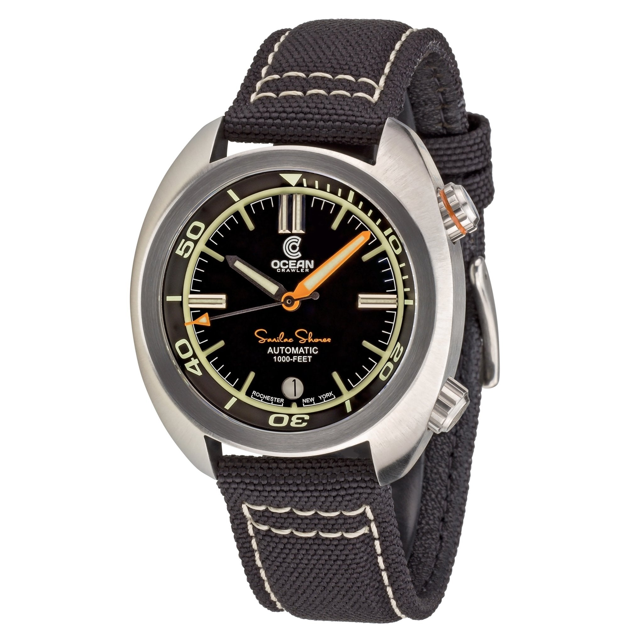Great Lakes Diver - Black - Preorder - Ocean Crawler Watch Co.