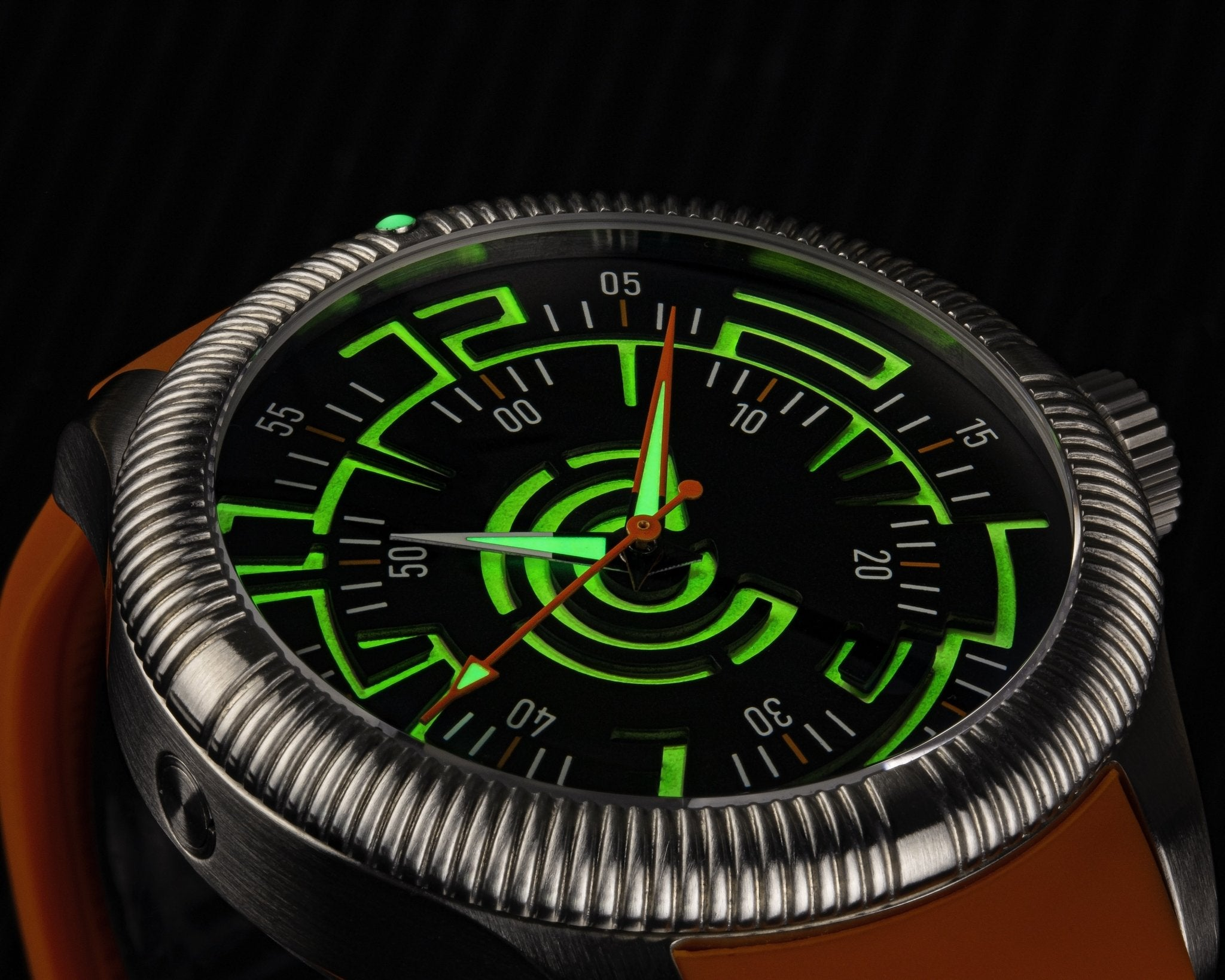Lume Rush Diver v2 - Black - Ocean Crawler Watch Co.