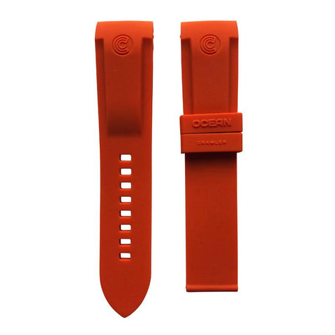 Ocean Crawler Burnt Orange Rubber Band For Champion Diver Watch Limited Edition - Ocean Crawler Watch Co.