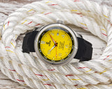 Ocean Crawler Champion Diver - Yellow - Ocean Crawler Watch Co.