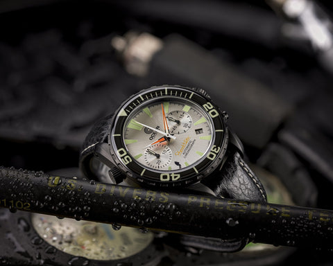 Ocean Crawler Chronograph Prototype - Silver - Ocean Crawler Watch Co.