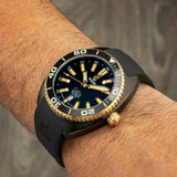 Ocean Crawler Core Diver - 18K Gold - Preorder (Black DLC Version) - Ocean Crawler Watch Co.