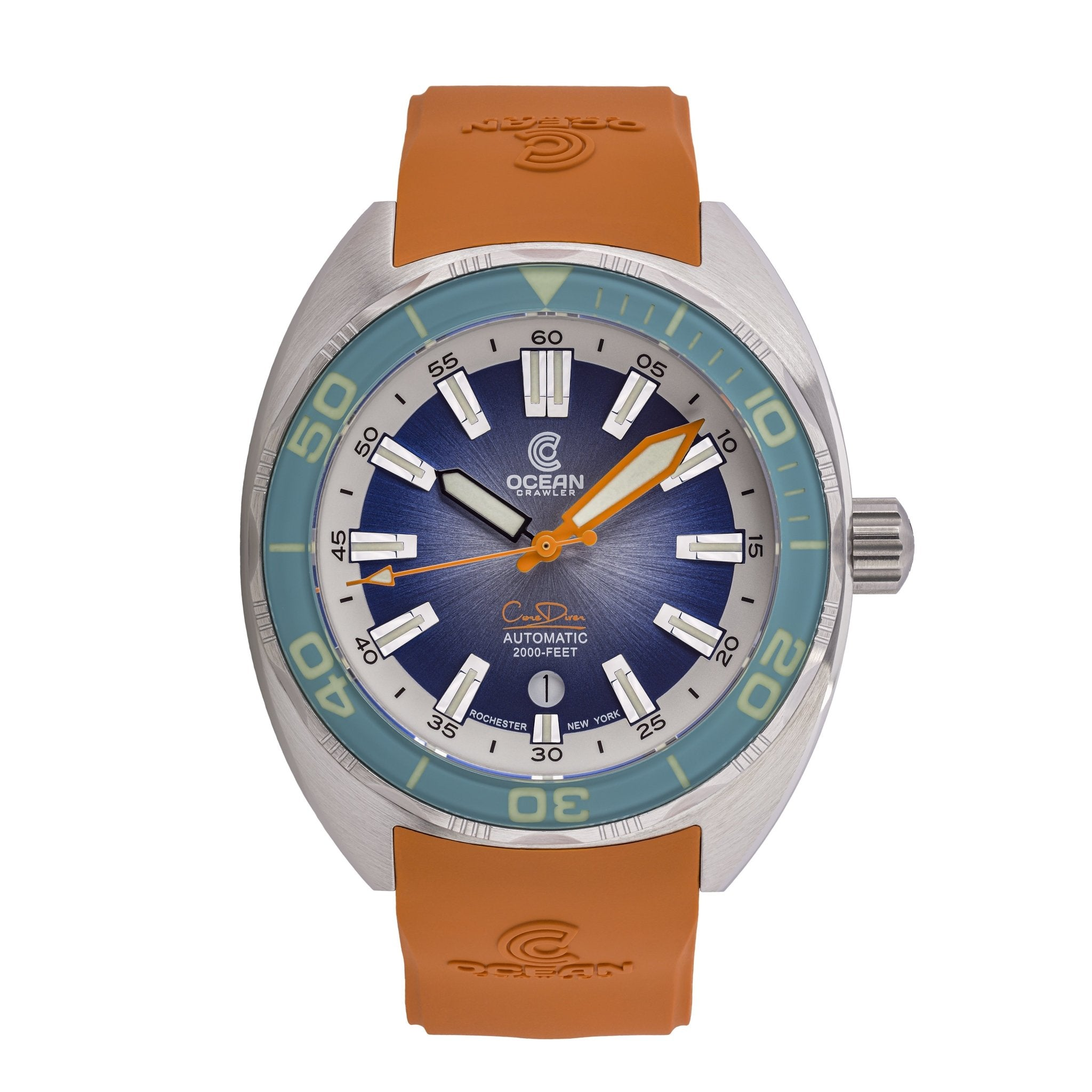 Ocean Crawler Core Diver - Aqua/Gradient Blue V3 - Ocean Crawler Watch Co.