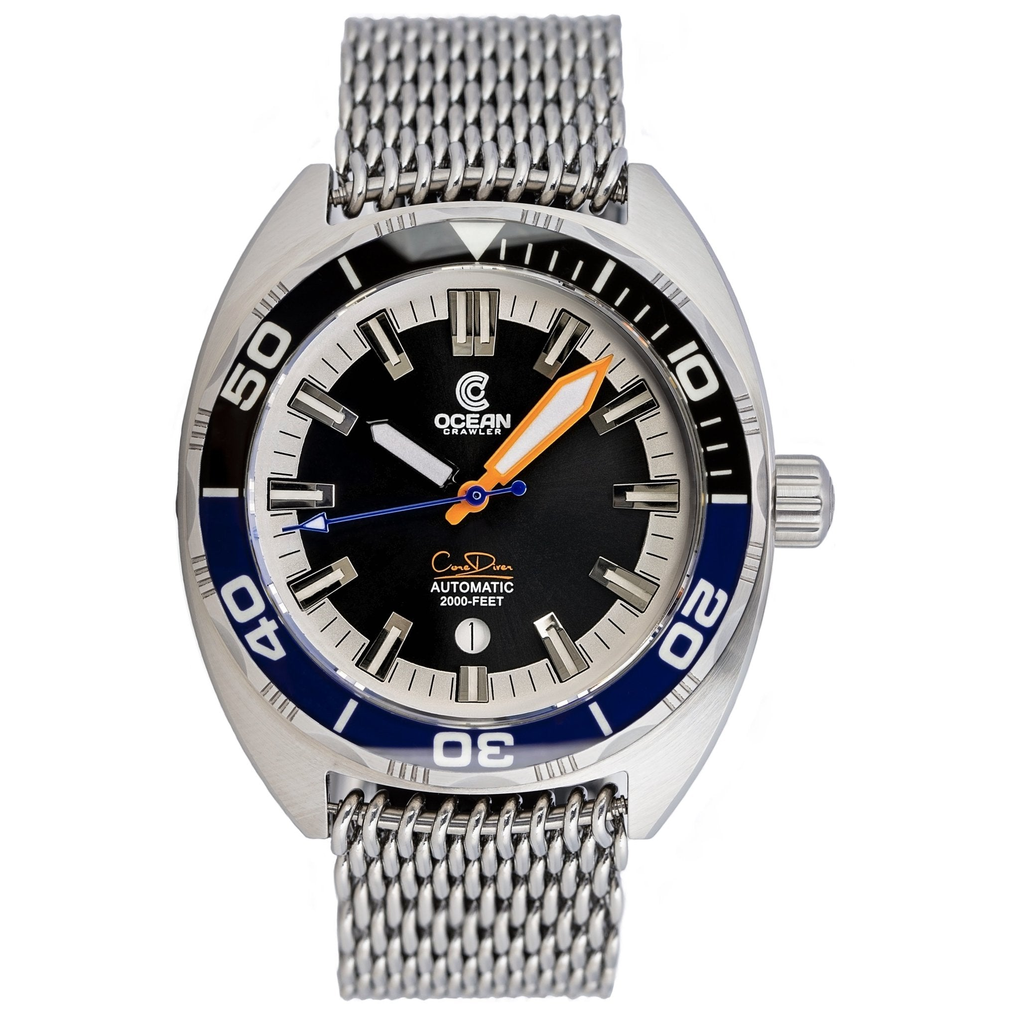 Ocean Crawler Core Diver - Black/Blue - Ocean Crawler Watch Co.