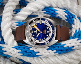 Ocean Crawler Core Diver - Black/Blue - Blue Dial - Ocean Crawler Watch Co.