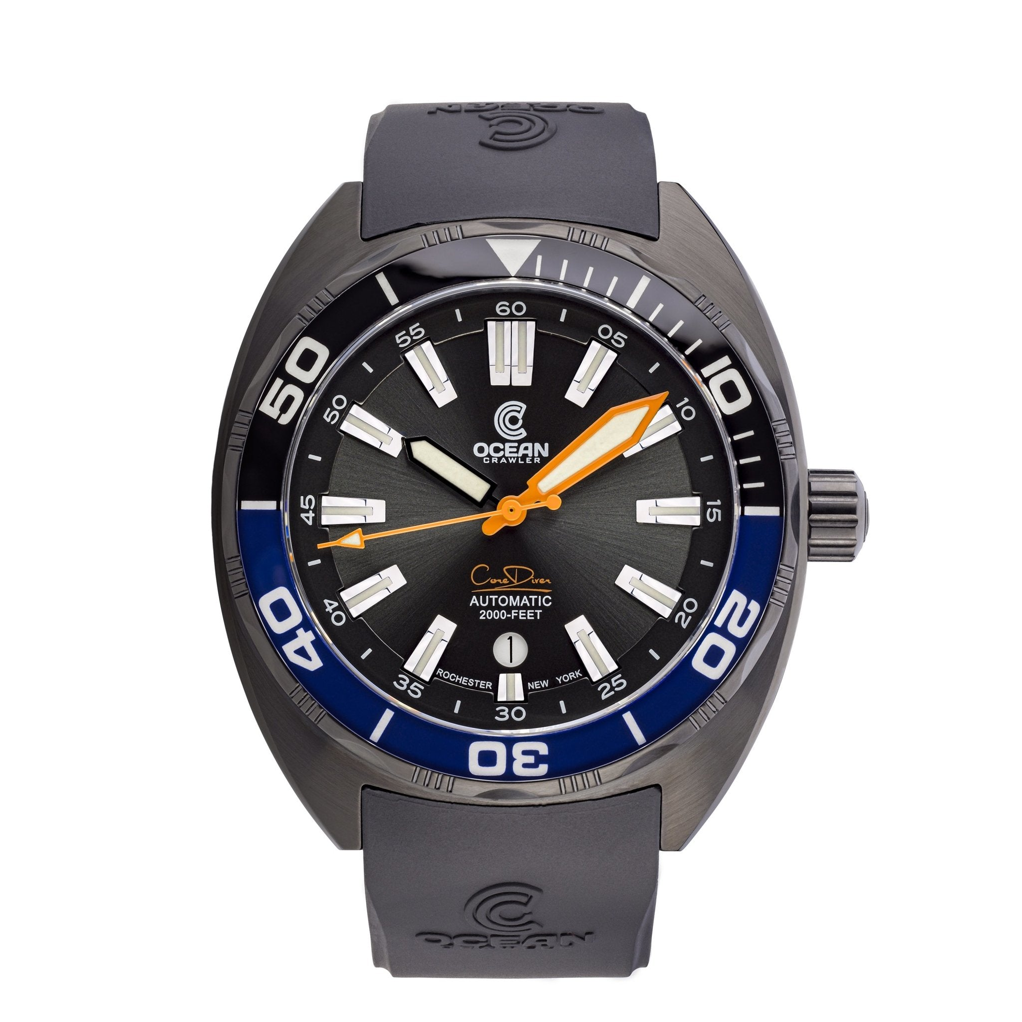 Ocean Crawler Core Diver - Black/Blue DLC - Preorder - Ocean Crawler Watch Co.