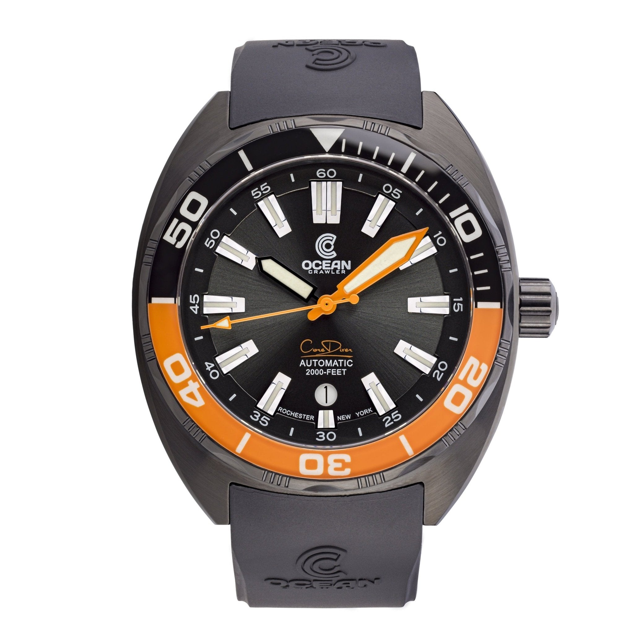 Ocean Crawler Core Diver - Black/Orange DLC - Preorder - Ocean Crawler Watch Co.
