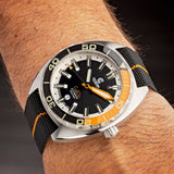 Ocean Crawler Core Diver - Black/Orange v3 - Preorder - Ocean Crawler Watch Co.