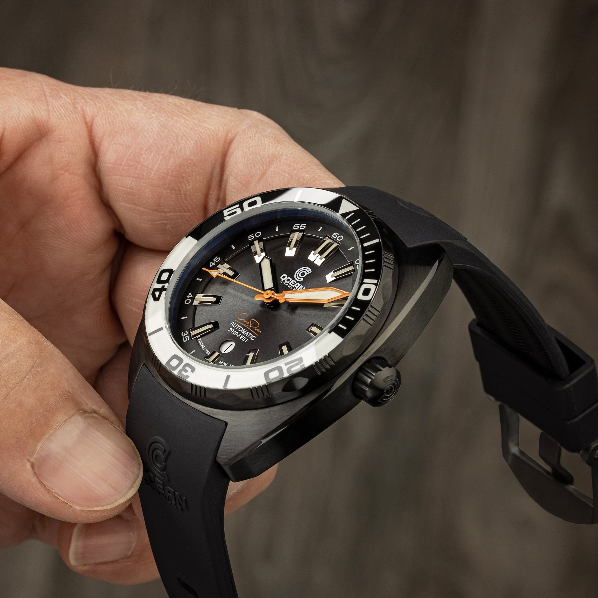 Ocean Crawler Core Diver - Black/White DLC - Preorder - Ocean Crawler Watch Co.