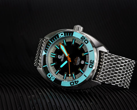 Ocean Crawler Core Diver Black/White Sample - Floor Model - Ocean Crawler Watch Co.