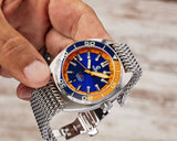 Ocean Crawler Core Diver - Blue/Orange - V2 - Ocean Crawler Watch Co.