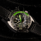 Ocean Crawler Core Diver GMT - Black/Green - Ocean Crawler Watch Co.