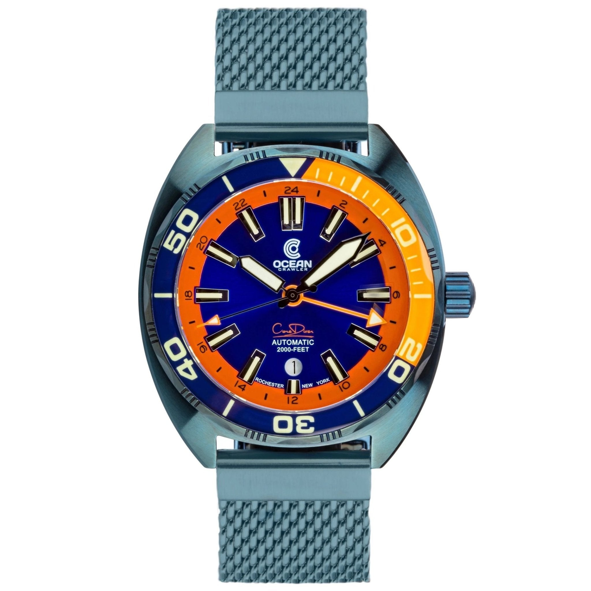 Ocean Crawler Core Diver GMT - Blue Steel - Ocean Crawler Watch Co.