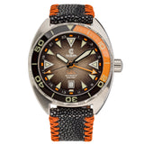 Ocean Crawler Core Diver GMT v2 - Black/Brown - Ocean Crawler Watch Co.