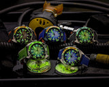 Ocean Crawler Core Diver GMT v2 - Black/Green - Ocean Crawler Watch Co.