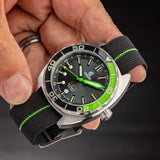 Ocean Crawler Core Diver - Green/Black v3 - Preoder - Ocean Crawler Watch Co.