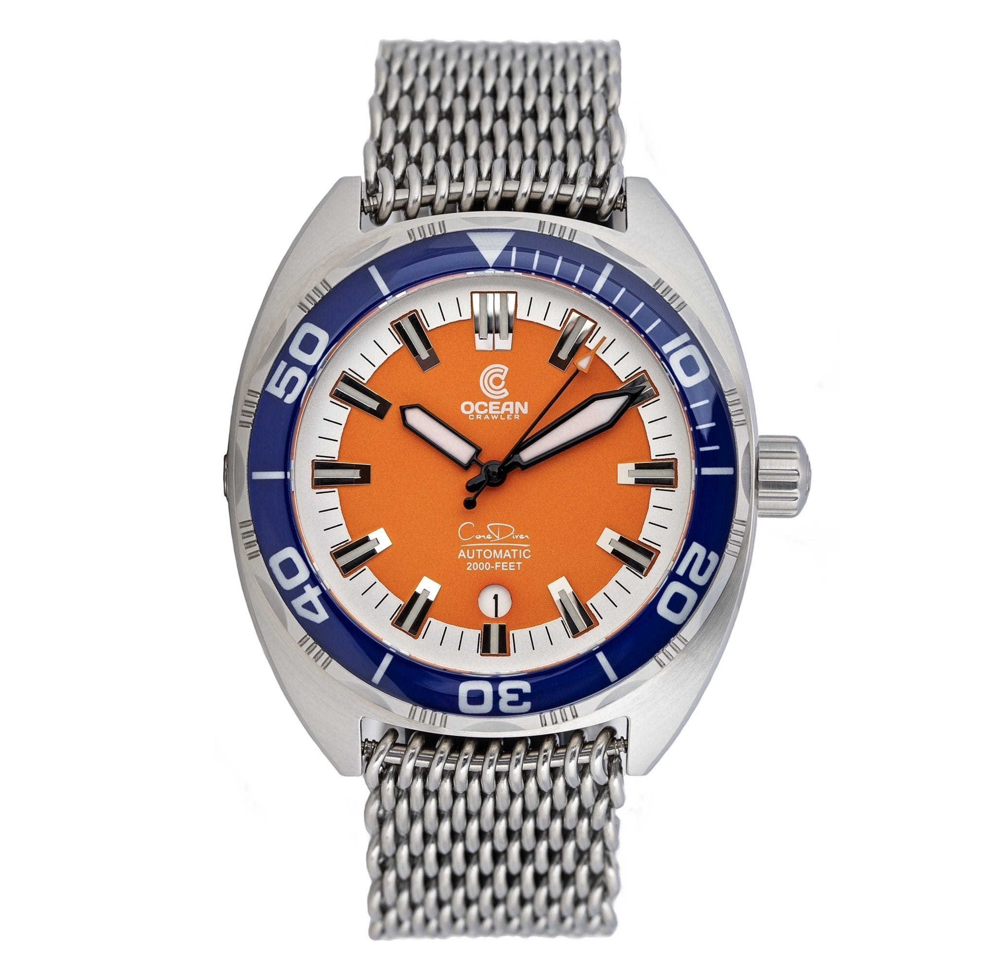 Ocean Crawler Core Diver - Orange - Ocean Crawler Watch Co.