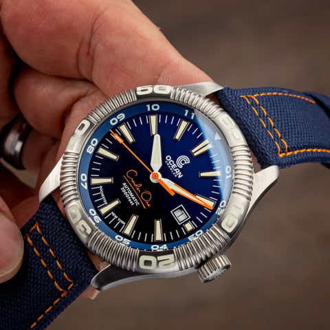 Ocean Crawler Crawler One - Prototype - Gradient Blue - Brand New - Ocean Crawler Watch Co.
