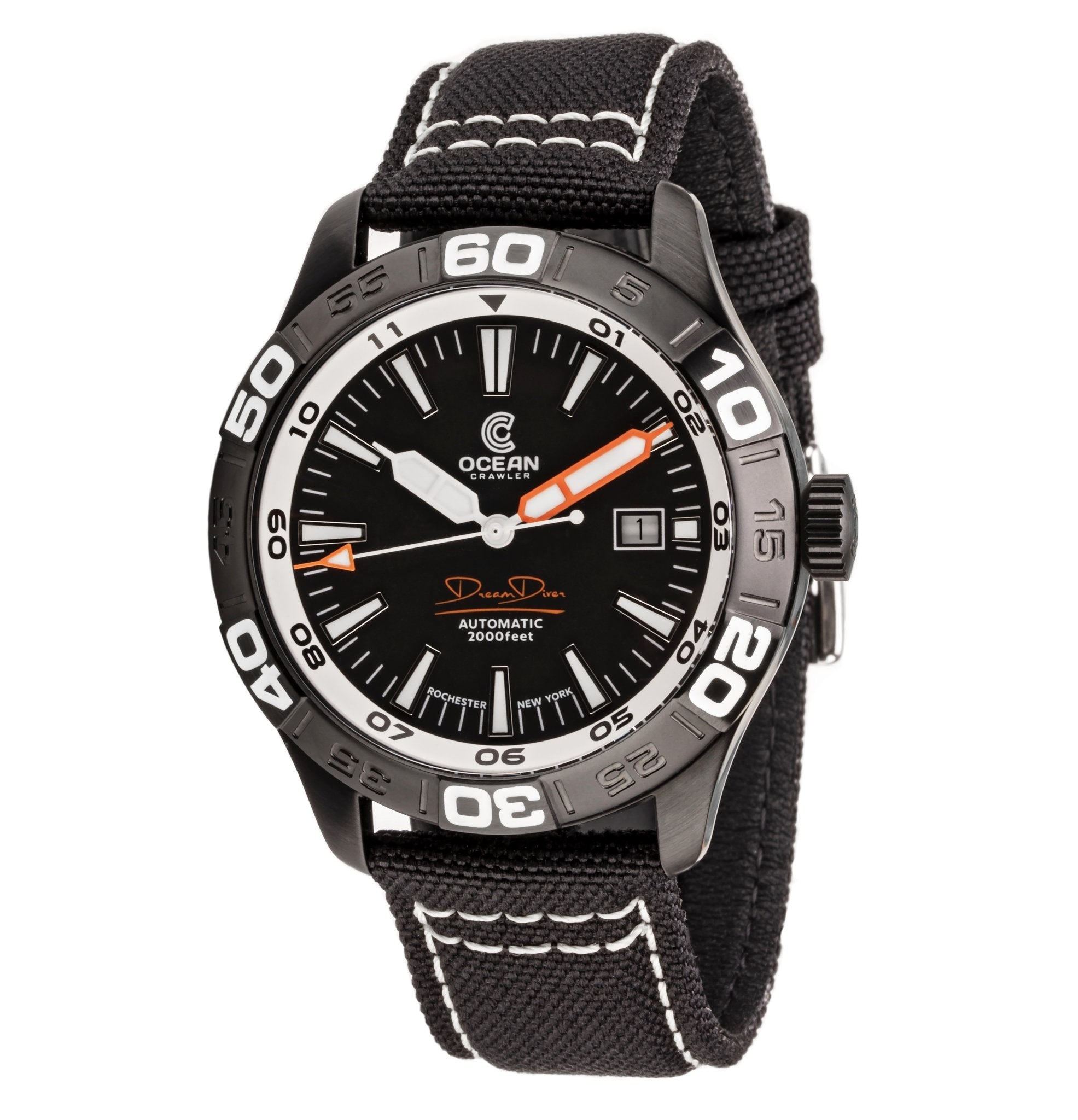 Ocean Crawler Dream Diver - Black DLC - Ocean Crawler Watch Co.